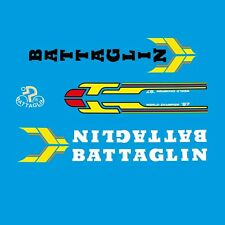 Battaglin Bicycle Decals, Transfers, Stickers - Red/Yellow/White/Black n.310