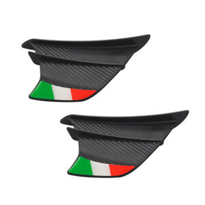 2PCS Motorcycle Side Winglets Air Deflector Wing Kit Spoiler Matte Carbon Fiber