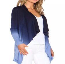 Diane von Furstenberg DVF Cardigan Sweater Blue Gradient Silk Cashmere Medium