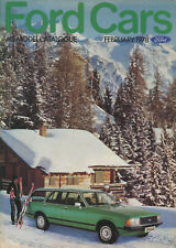 CAR BROCHURE: FORD CARS - FEBRUARY 1978 (INCLUDES ESCORT RS 2000/RS MEXICO)