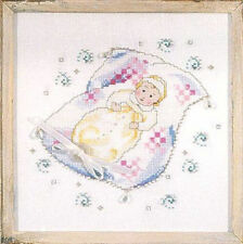 "SALE! COMPLETE X STITCH KIT ""ON GRANDMOTHERS QUILT"" by Mirabilia"