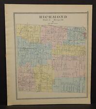 Ohio Huron County Richmond Township 1891  !Y14#70