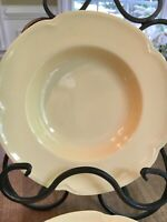 Lot 5: Johnson Brothers GOLDENDAWN Rim Soup Bowls vintage pale yellow 8""
