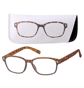 NEW Unisex Fashion Reading Glasses With Matching Case Multi Color FREE SHIPPING