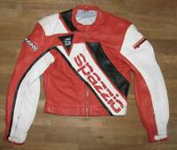 """ SPAZZIO "" Herren- Motorrad - Lederjacke / Biker- Jacke / Kombijacke in ca. 44"