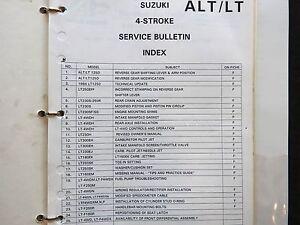 1983-2003 Suzuki 125 230 250 300 Alt Lt Atv Todo Terreno Servicio Boletines