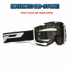 PROGRIP 3400 2017 MENACE MOTOCROSS MX GOGGLES BLACK WITH TEAR OFFS