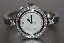 458c277dcee Women s GUCCI 105 Series Customized Diamond Bezel Watch YA105507 Fits 5.5