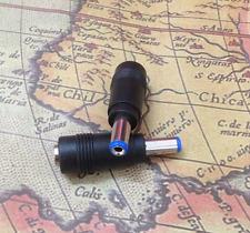 1Pcs 5.5mm x 2.5mm Male Plug to 5.5mm x 2.1mm Female Jack DC Power Adapter