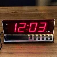 Vintage 1970s Spartus Digital Alarm Clock High Tech Model 1150 Jumbo Numbers