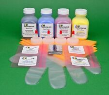 HP 2605 2605dn 2605dtn Four Color Toner Refill w/Chips. By Easy Cartridge Refill