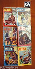 LOTTO 6 Albi Albo Capitan Miki a colori originali del 1963 n 60 61 62 65 66 69