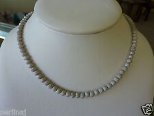 Italian jewelry 18k white gold covered silver ball necklace ret $320