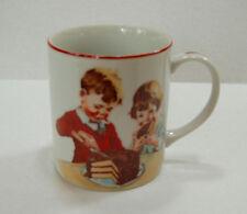 Vintage Hershey's Mug Cup 1980 Cover of Cookbook 1934 Boy Girl Cake Chocolate