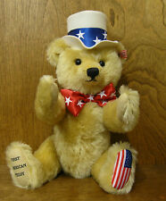 STEIFF #667183 FIRST AMERICAN TEDDY, Growler Mint/Box/Tag NEW From Retail Store