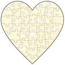 Blanko Holz-Puzzle Herz, 40 Teile, 38x38 cm, zum Selbst Bemalen und Gestalten