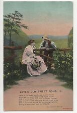 POSTCARD  SONG CARDS   Love's  Old  Sweet Song