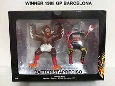 MINICHAMPS VALENTINO ROSSI + CHICKEN 1/12 PILOTA + POLLO GP BARCELONA 1998 NEW