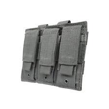 VISM 3 Pocket Gray Pistol MOLLE Mag Pouch For GLOCK 17 22 20 34 35 17L 24 40 31