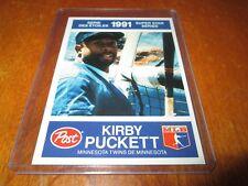 1991 POST/ 30 KIRBY PUCKETT MINNESOTA TWINS