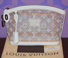 Louis Vuitton Monogram TRANSPARENCE LOCKIT CLUTCH White Transparent Mesh LIMITED