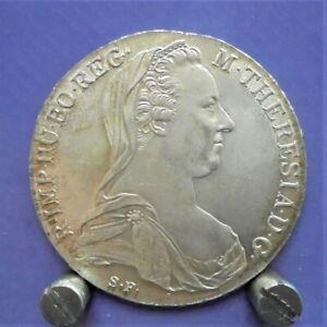1780 Austrian thaler 83.3% silver bullion restrike coin U.K. only.