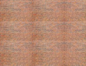 S Scale Brick Model Train Scenery Sheets 5 Seamless 8.5x11 Light Calico