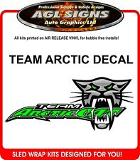 Team Arctic Cat Racing Decal Large       graphics sticker ZR ZRT XF