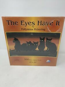 Sunsout Puzzle 500 Piece The Eyes Have It by Pollyanna Pickering 15 x 29 NIB
