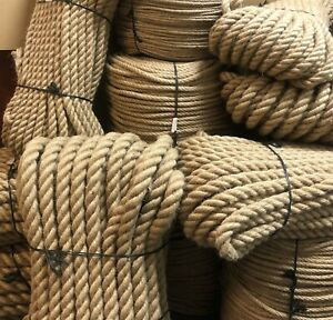 100% Natural Jute Hessian Rope Cord Braided Twisted Boating Garden Decking Gym