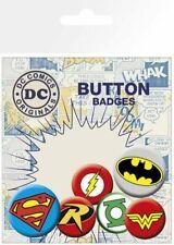 DC Comics Ansteck-Buttons 6er-Pack Logos