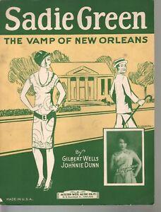 Sadie Green the Vamp of New Orleans 1926 Sheet Music
