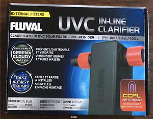 Fluval UVC In line Clarifier Filter 400 ltr