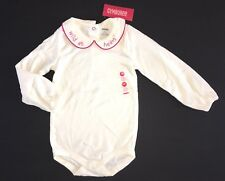 NWT Gymboree Wild One 3 3T Ivory Embroidered Wild at Heart Collar Bodysuit
