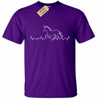 KIDS BOYS GIRLS Unicorn Heartbeat T-Shirt Horse pulse ekg equestrian