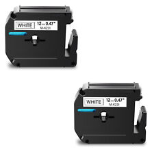 2pk M231 M K231 Black On White Label Tape For Brother P Touch Pt 65vp 12mm 12