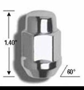 Gorilla Lug Nut Acorn Bulge 12x1.50 3/4 in Hex Head 60 D Seat Closed Chrome