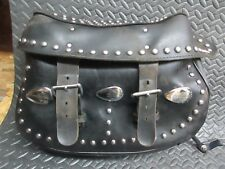 Harley Davidson Heritage Softail Leather Studded Motorcycle Saddlebags w/ mount