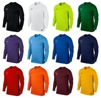 Nike Park Long Sleeve Kids Boys Football Shirts Sports Training Top Jersey Shirt