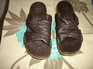 CLARKS LADIES SANDALS SOFT LEATHER UPPER 6 - ACTIVE AIR BROWN