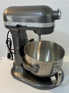 KitchenAid PRO 600 KP26M1XPM 575W 6 Quart Bowl-Lift Stand Mixer, Pearl Metallic
