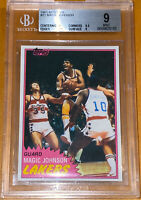 🔥1981-82 Magic Johnson TOPPS #21 Solo Rookie BGS 9 w/ 9.5 subs PSA  fleer prizm