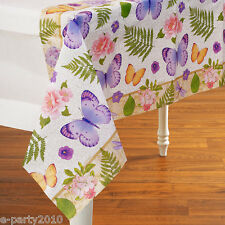 FLORAL In the Garden PAPER TABLE COVER (1) ~ Birthday Party Supplies Decorations