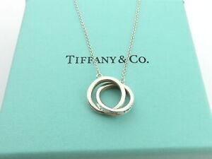 TIFFANY & CO Sterling Silver 1837 Interlocking Circles Pendant Necklace