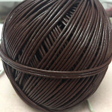 CHOCOLATE BROWN LEATHER CORD x 10m - belt/cord/jewellery/bag/hat/necklace/craft