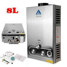 8L 16kW Gas LPG 2800Pa Hot Water Heater Boiler Tanks Instant Tankless Showers