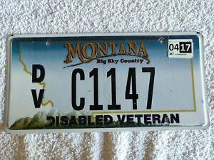 Montana Veteran DVC1147 Genuine Pre-Owned USA American License Plate