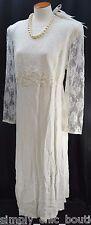 Jodi Scott York VTG Victorian wedding Bridal Ivory Dress lace formal gown 20 NEW