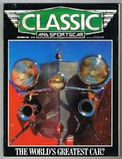 Classic and Sportscar Magazine December 1986 MBox1058 The world's greatest car?