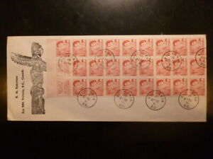 CANADA, 4c Centennial booklet pane of 25 on choice cover, #457c